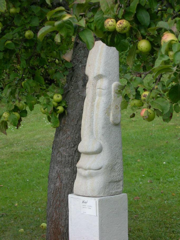 Kopf 2013 Cottaer  Sandstein ca. 90 cm