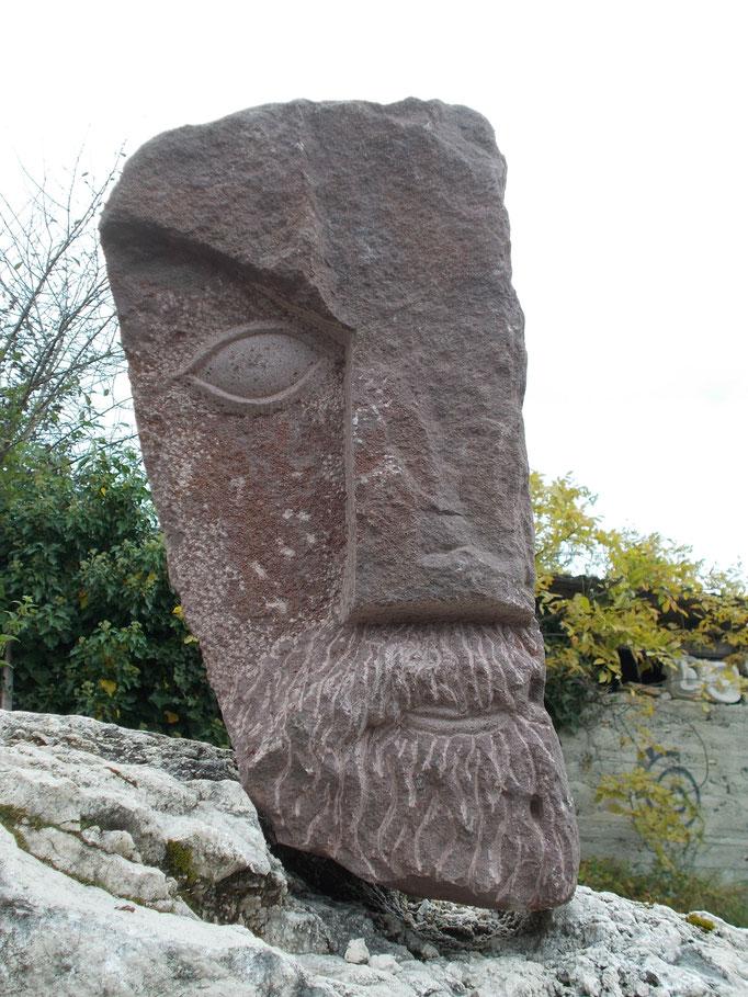 Halbes Gesicht 2017 Ungarischer Sandstein
