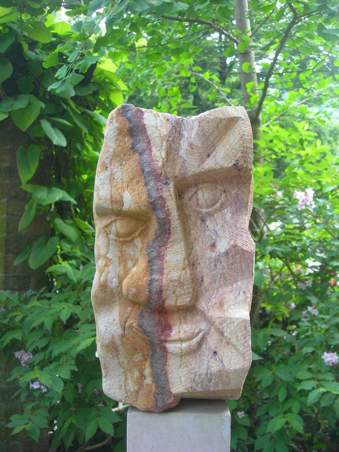 Januskopf  1.Seite 2016  polnischer Sandstein ca 40 cm
