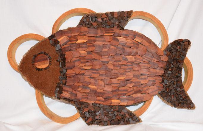 Fisch - 54x35cm - Birnbaum -Verkauft