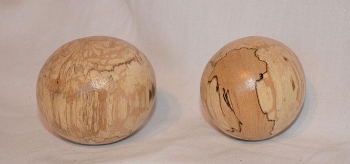 Weltkugeln - 6-7cm - erstickte Buche