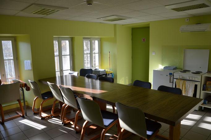 cuisine à disposition du gîte d'étape la Margeride à Saugues