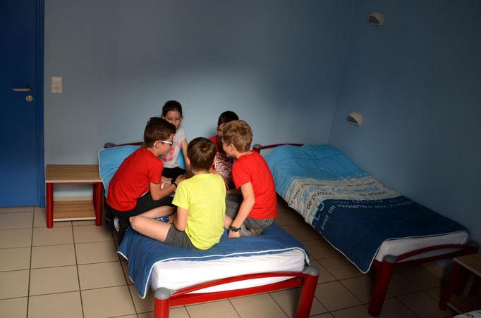 chambre avec des anfants au Centre la Margeride Auvergne