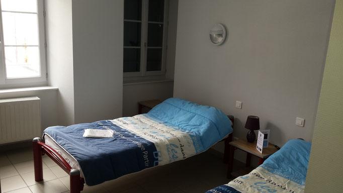 chambre pélerins au gîte la margeride, Saugues, GR65, La Margeride