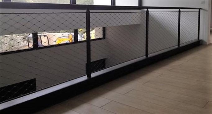 installation d'un garde-corps à maille inox à nimes dans le gard