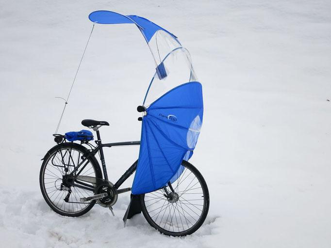 Wetterschutz für Velos