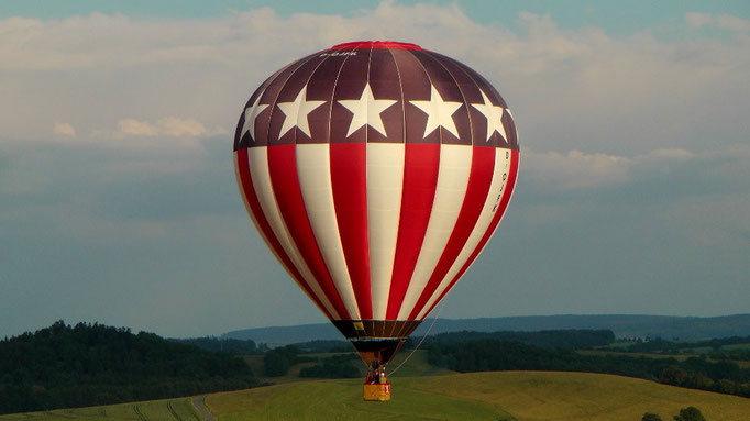 Eine traumhaft tolle Heißluftballonfahrt über das schöne Frankenland. © Copyright by Olaf Timm