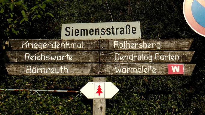 Wanderweg zum Kriegerdenkmal