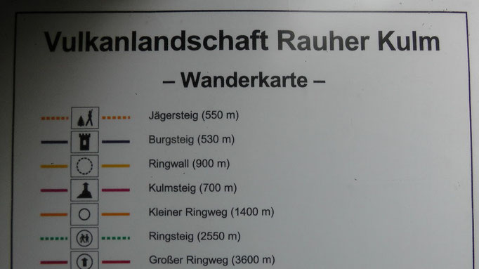 Infotafel Wanderkarte