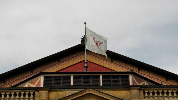 Die Fahne weht nur zur Festspielzeit