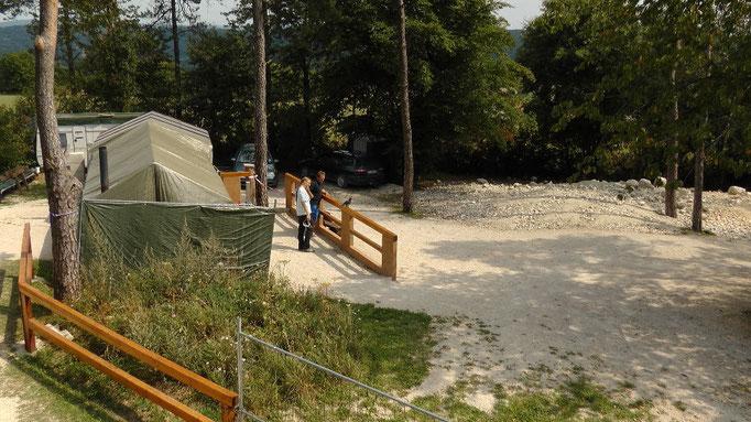 Eingang zum Fossilklopfplatz an der Hohenmirsberger Platte