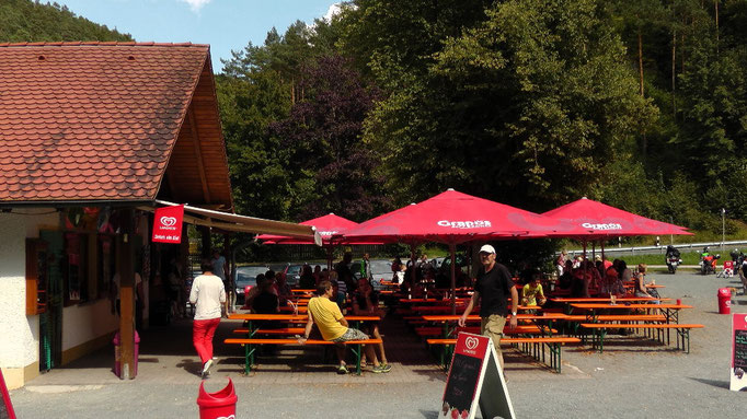 Kiosk Schöngrundsee mit Bootsverleih