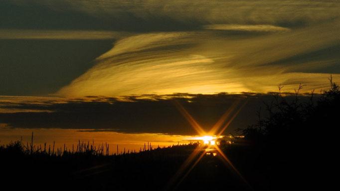 Sonnenaufgang im Fichtelgebirge. Blick aus meinem Badfenster