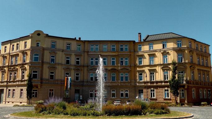 Brunnen am Wilhelmsplatz in der Festspielstadt Bayreuth © Copyright by Olaf Timm