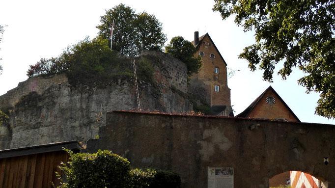 Blick noch zur Burg