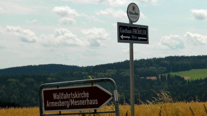Anfahrtsweg zur Wallfahrtskirche Armesberg