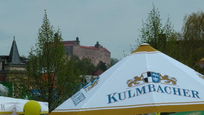 Blick zur Plassenburg in Kulmbach