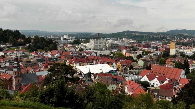 Ein Blick von der Plassenburg runter zum Bierstadl