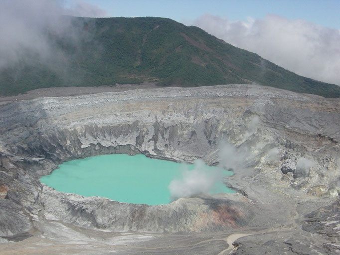 Krater des Poas Vulkan
