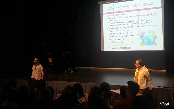 Charla sobre acoso escolar y ciberacoso a alumnos Colegio Alemán (Santa Cruz de Tenerife)
