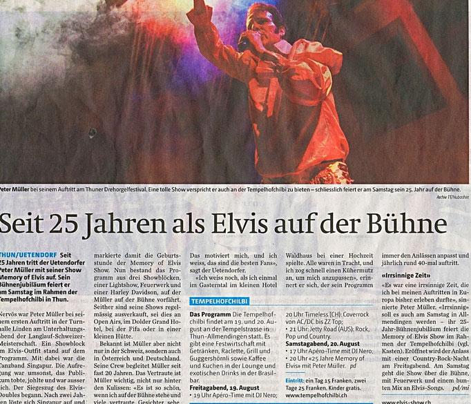 Jubiläum mit Elvis Presley Imitator Peter Müller Schweiz