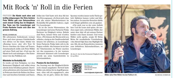Elvis Imitator Show Peter Müller Schweiz