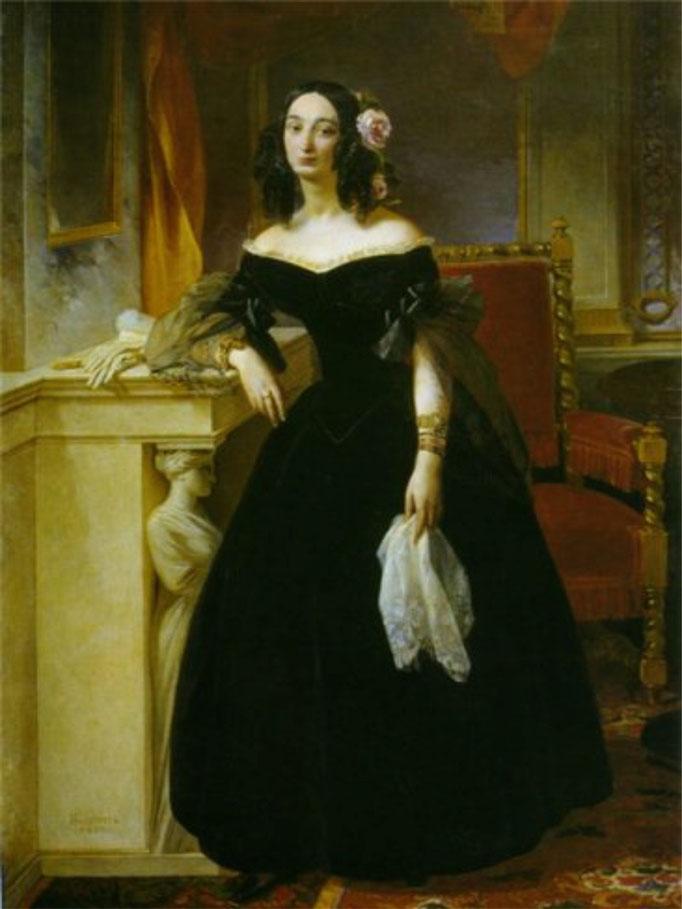 Софья Сергеевна Бибикова.  П.В.Басин, 1839