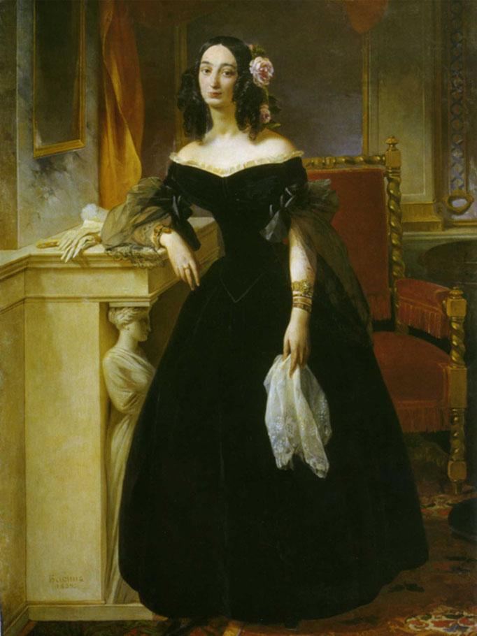 Софья Сергеевна Бибикова, ур. Кушникова (1806,1810-1882), дочь С.С.Кушникова (1767-1839) и Е.П.Бекетовой (1771-1827), с 1825 года жена Д.Г.Бибикова (1791-1870)