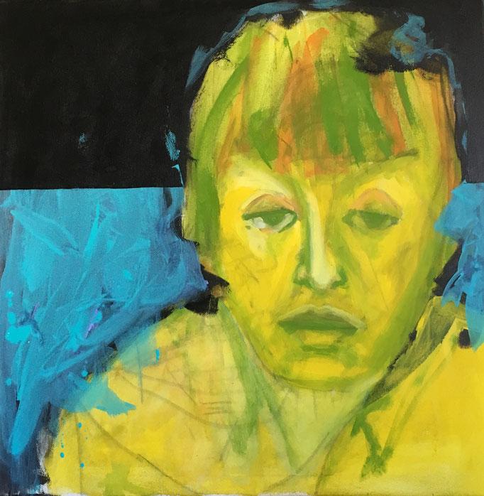 VERKAUFT   Acryl auf Leinwand   Titel: Trauer  Größe: 100 x 100