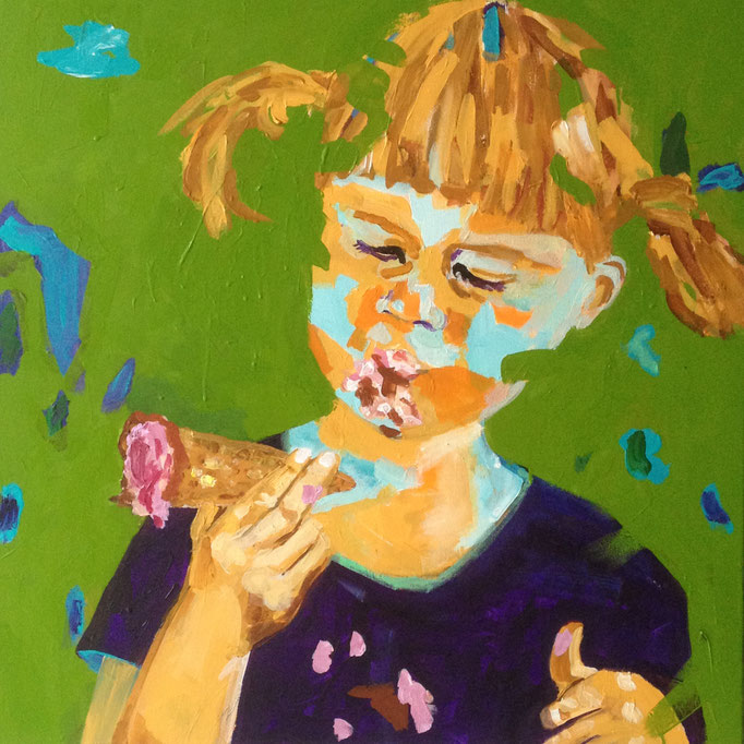 Acryl auf Leinwand   Titel: Eiszeit   Größe: 80 x 80