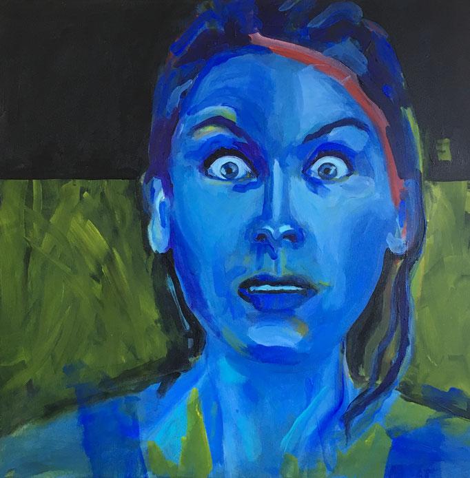VERKAUFT   Acryl auf Leinwand   Titel: Angst   Größe: 100 x 100