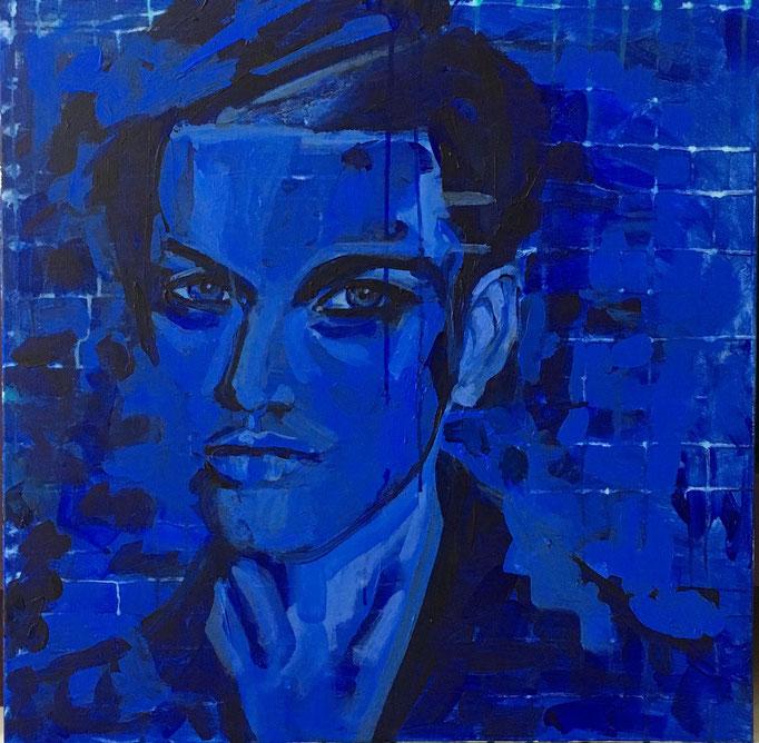 Acryl auf Leinwand   Titel: Blau I   Größe 60 x 60