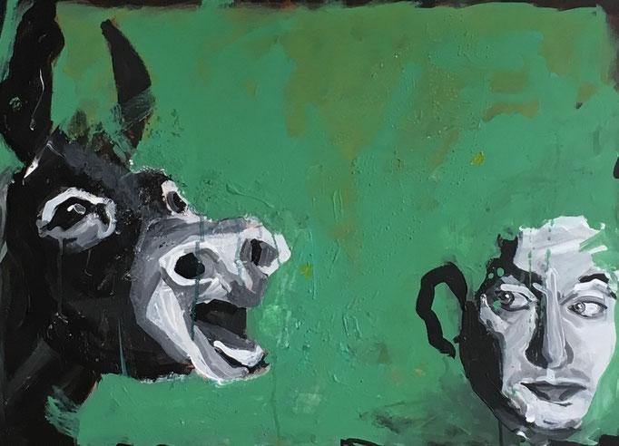 Acryl auf Leinwand   Titel: Fremdsprache   Größe: 50 x 70