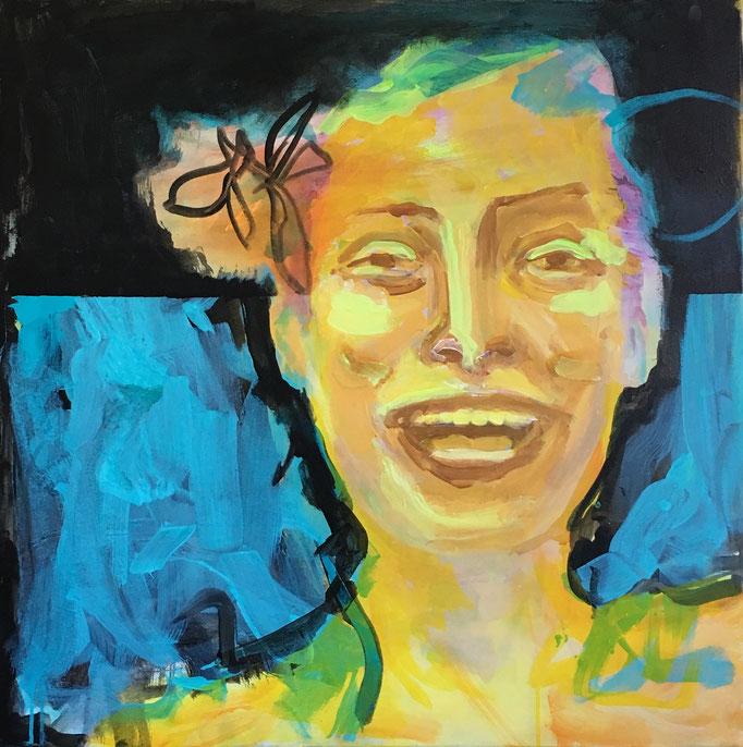 VERKAUFT   Acryl auf Leinwand   Titel: Freude   Größe: 100 x 100