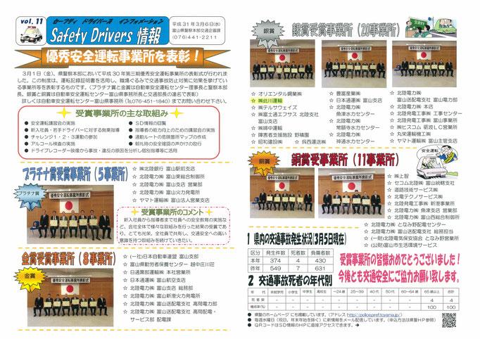 SafetyDrivers情報    富山県警本部発行