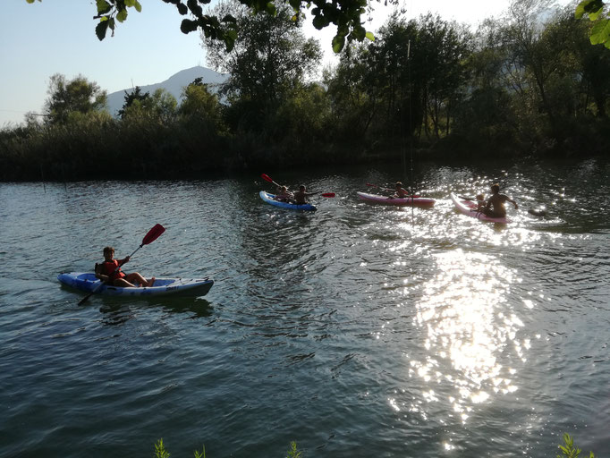 foce fiume bussento a 700 m.