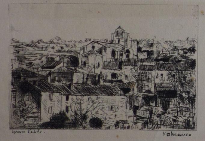 Varbanesco, Saint-Restitut, eau-forte, 11,4 x 17,1