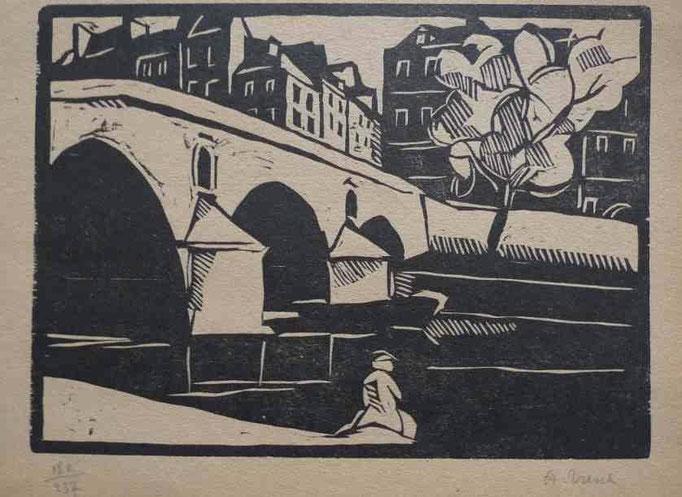 Tresch, le pont sur la Saône, bois, Album Ziniar, avr. 21, 166x225