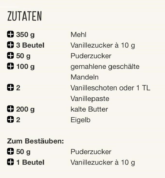 Rezept für Vanillegipfeli