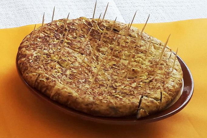 une Tortilla (omelette) pour une privatisation Tapas Locas chez un particulier.