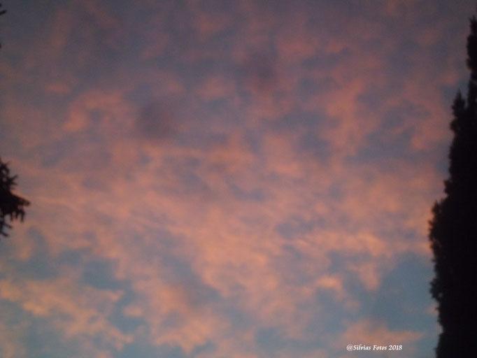 Roter Himmel/Aufnahme unterwegs