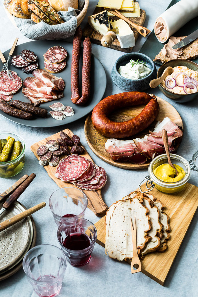 Bavarian Brunch, meat from happy pigs products- pic taken for Herrmannsdorfer Landwerkstätten