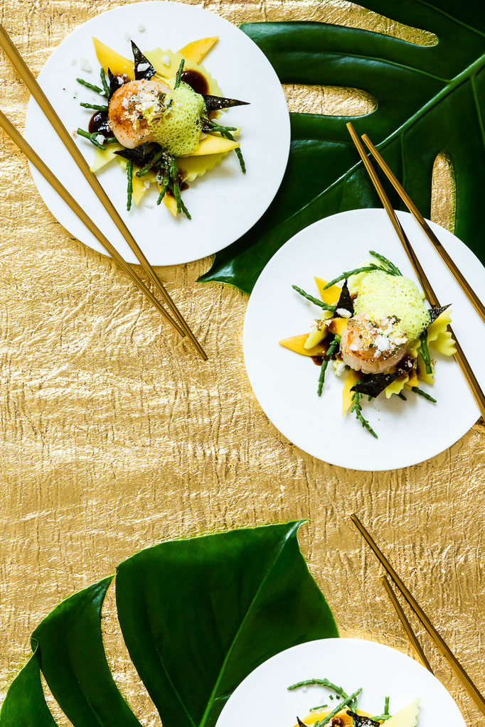 soared asian scallops for Asia Xmas - Foodstyling and recipe: Antje de Vries, pic taken for Der Feinschmecker magazine