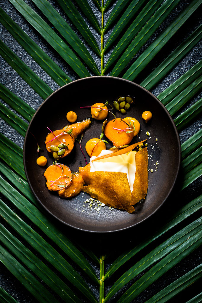 Dessert from the Laboratiore de Patisserie Tropicale by Head Patissier Francois Seurin - pic taken for MnM Innovative Food Concepts in Bali (Indonesia)
