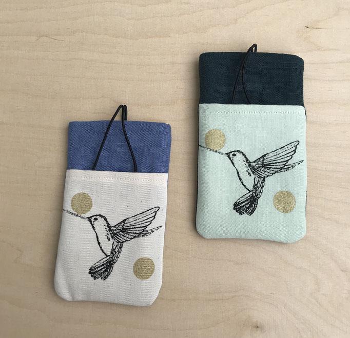 Links: blau mellierte Leine // Rechts: Mint