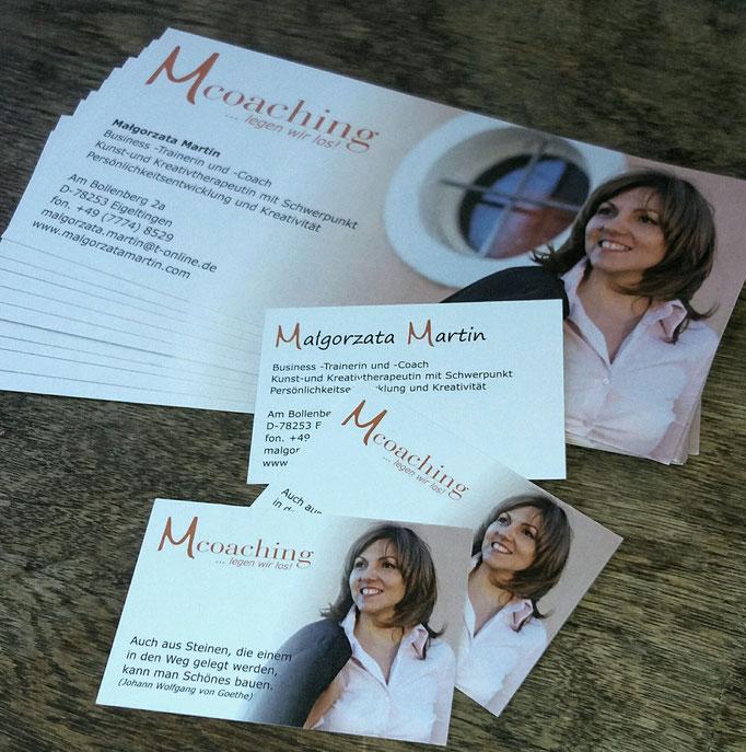 Flyer und Visitenkarten für Malgorzata Martin