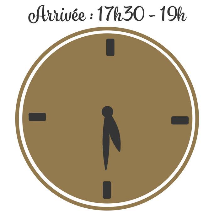 Le Champ du Pré Chambres d'hôtes entre Sologne et Vallée de la Loire - Heure d'arrivée