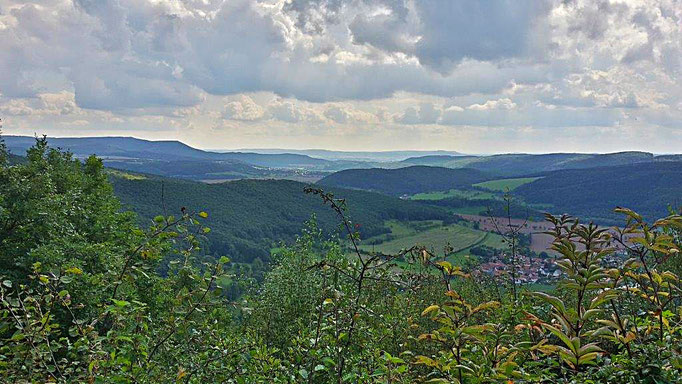 Aussicht über das Werratal und Eichsfeld