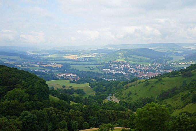 Blick von der Leuchtenburg ins Saaletal bei Kahla