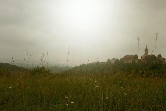 Morgennebel um die Leuchtenburg